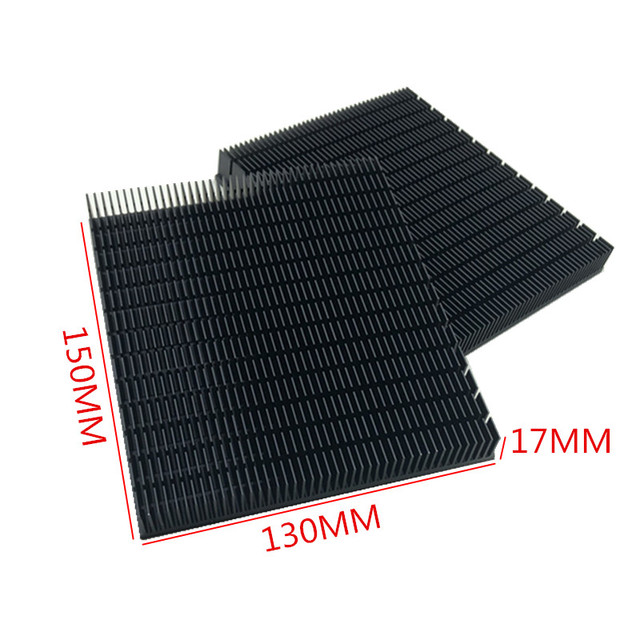 1PCS  high quality high power aluminum radiator 150*130*17MM heat sink aluminum black heat sink