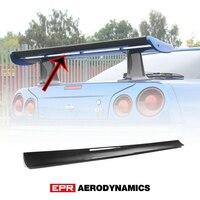 Acessórios do carro para nissan skyline r34 gtr oem fibra de carbono spoiler traseiro pequena lâmina tuning asa kit (para geunine oem spoiler)