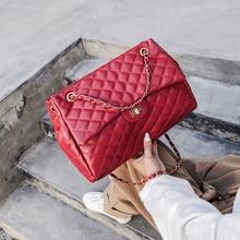 Bags For Women 2019 Fashion Designer Crossbody Ladies Shoulder Rhombus chain hand bags Girls Messenger Shopping Big Totes