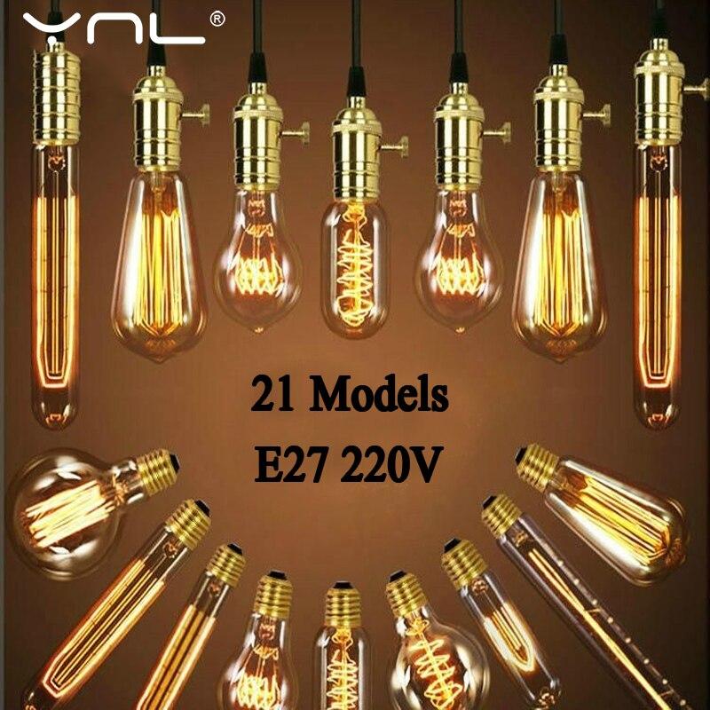 Vintage Edison Bulb E27 220V Retro Lamp 40W Ampoule Vintage Decor Light Bulb Edison Lamp Incandescent Light Filament Edison Bulb