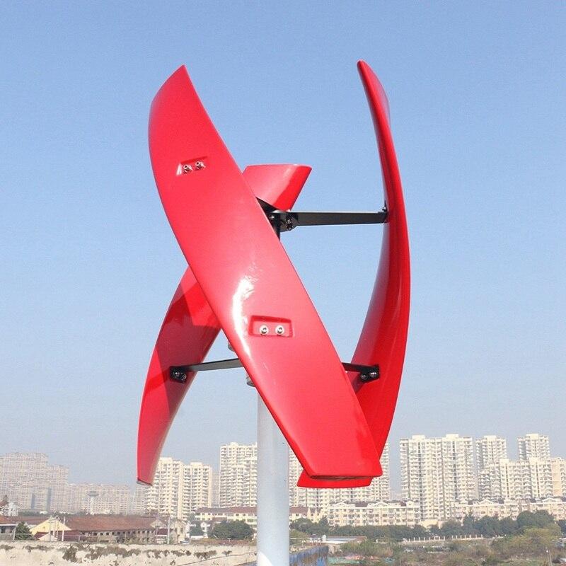 R & X 300 w/500 w rouge Vertical éolienne générateur Maglev 3-lames moulin à vent 12 v/24 v silencieux prix usine contrôleur gratuit - 4
