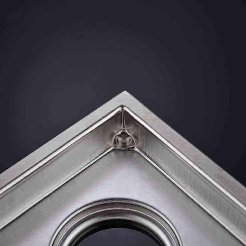 Drenaj sistemi üçgen balkon köşe zemin drenaj sistemi gizli deodorant tipi mavi kanalizasyon duş sistemi hızlı drenaj