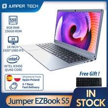 Notebook 2021 jumper ezbook s5 12gb 256gb intel n4020 ultra magro duplo core win 10 computador portátil 14 Polegada 1920*1080 ips tela computador