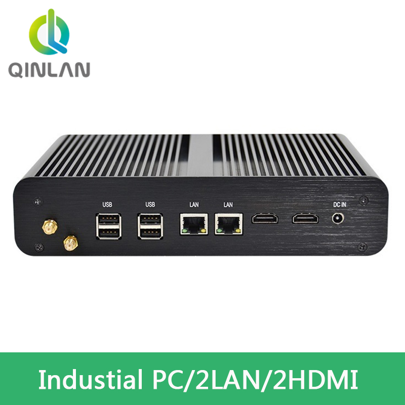 Fanless Mini Box PC Intel 5th Generation I7 Broad Well CPU NUC With 4K HTPC 8GB RAM 256GB SSD 2HDMI 2LAN  Wi-Fi Windows 10pro