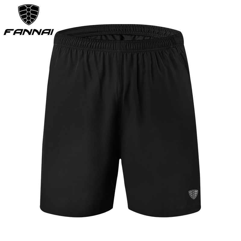 FANNAI ランニングショーツ男性スポーツジョギングショーツジッパーポケットと巾着クイックドライメンズジム男性スポーツジムショートパンツ