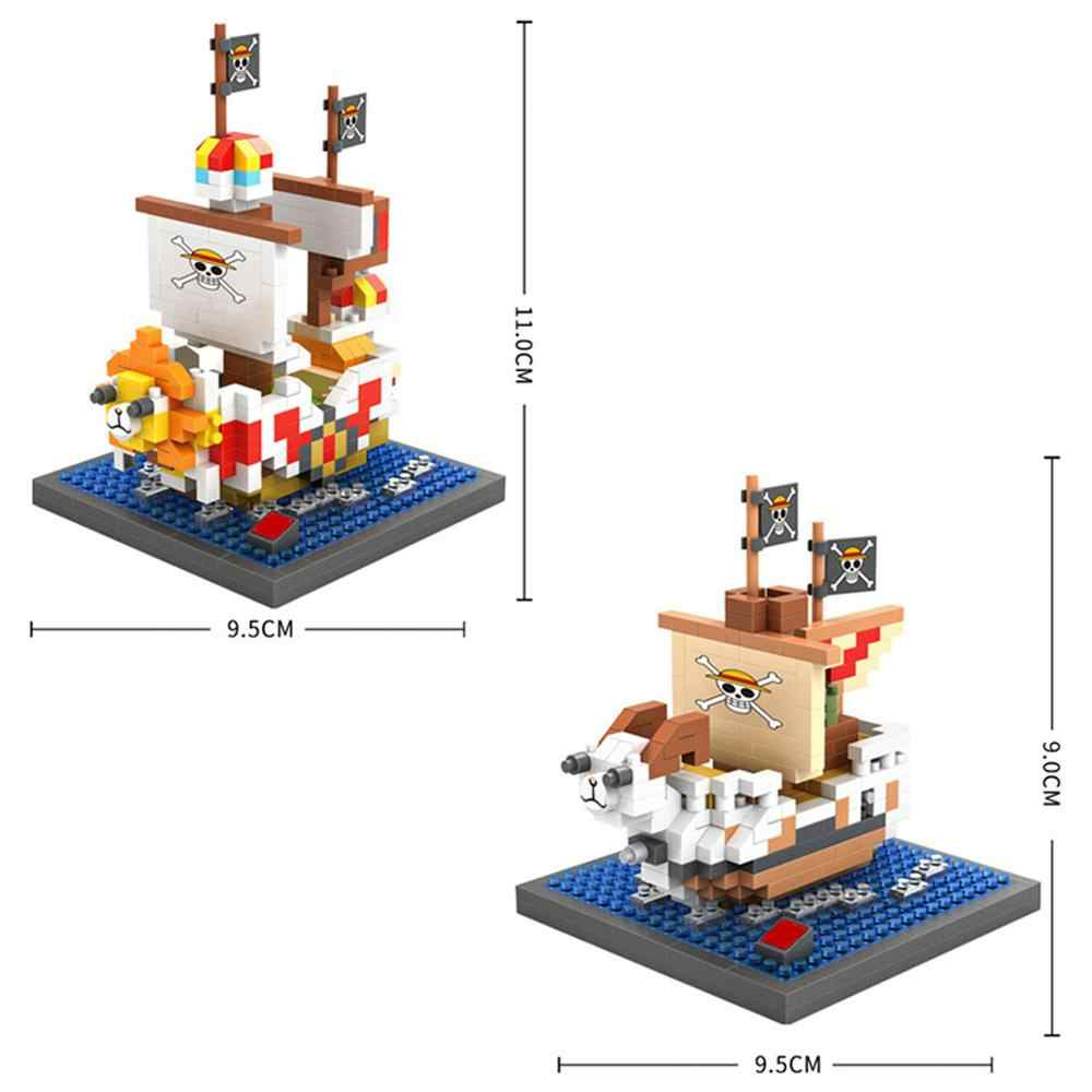 hot LegoINGlys creators japan Animation Merry Thousand Sunny pirate ship mini micro diamond building blocks model toys for gifts