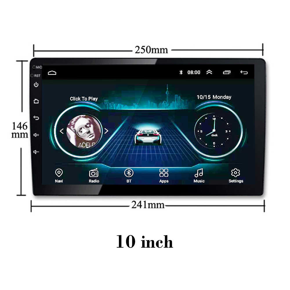 """Car radio For Toyota Corolla 2014-2016 10"""" Android 8.1 DVD Multimedia player GPS Navi Full Touch Screen Mp5 Mirror link SWC WIFI"""