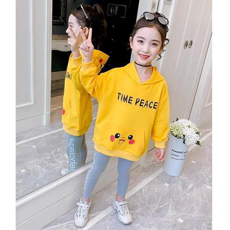 Children Clothes Autumn Cartoon Girls Sets Long Sleeve Tracksuit 2- 13 Years hoodies Girls Clothing Sport Suit Kids Clothes Sets 2