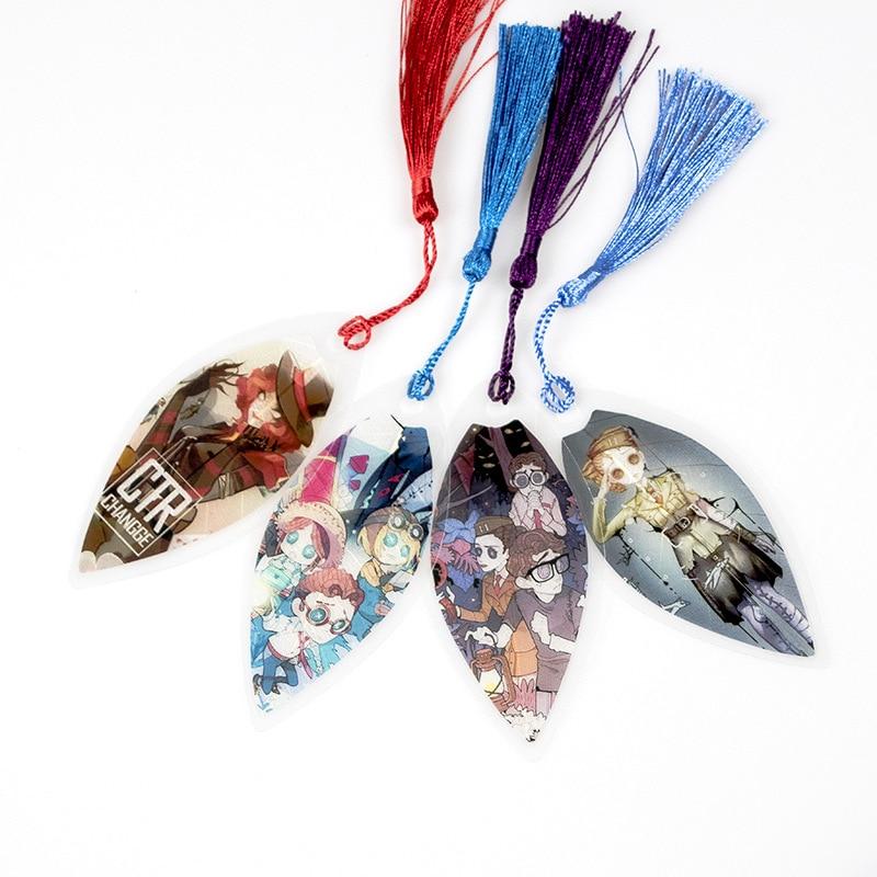 Anime Asymmetrical Battle Arena Leaf Shape Bookmarks Waterproof Transparent PVC Plastic Bookmark Beautiful Book Marks Gift