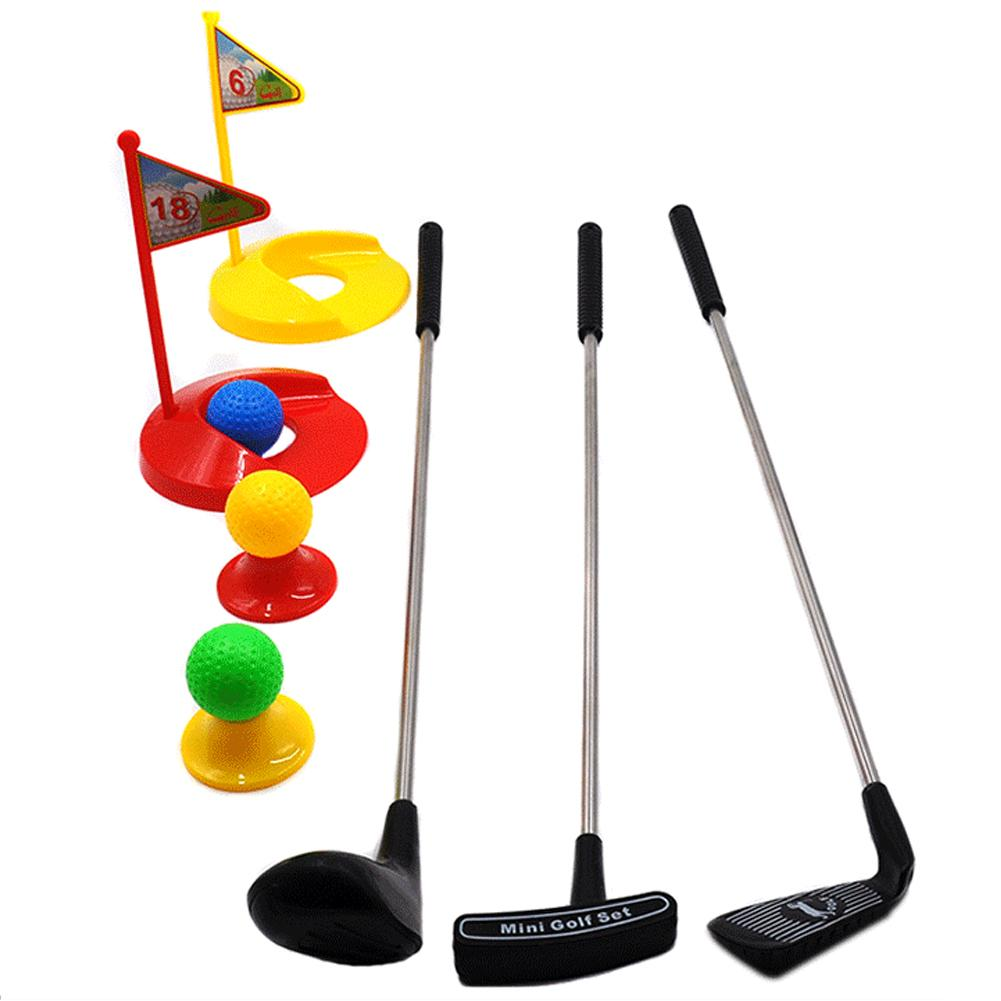 Children's Indoor Toy Golf 12 Sets Of Outdoor Toys Metal Clubs Parent-child Outdoor Children's Toys Set High Quality Metal