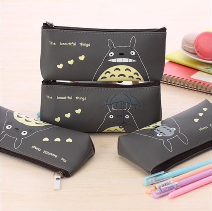 1pcs/lot Kawaii Japan Cartoon Cat PU Waterproof Pencil Case Pencil Bag Clean Up Bag Students' Gift Prize School Office Supplies