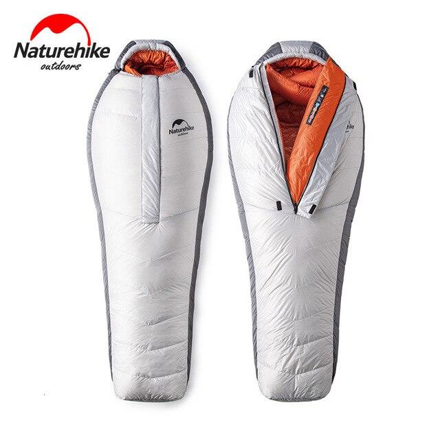 Naturehike 2019 20D Arktischen Alpine Gans Unten Mummy Schlafsack Super Warm Halten 850 FP Komfort Einschränkung Temperatur 23℃  43℃