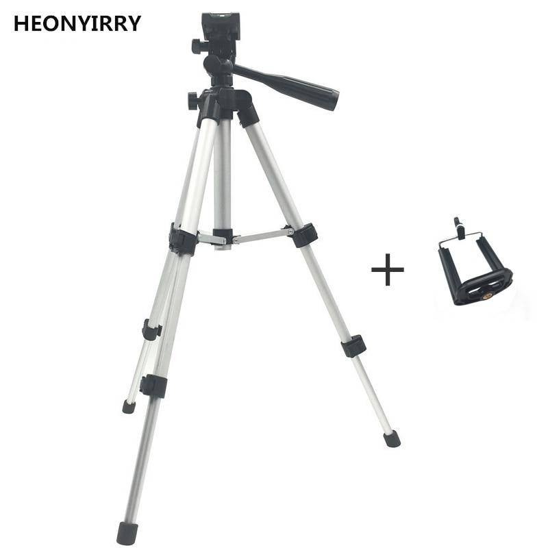 Профессиональный складной штатив-тренога для камеры с винтом для штатива на 360 градусов, алюминиевый стабилизатор штатива с держателем для телефона - Цвет: Large