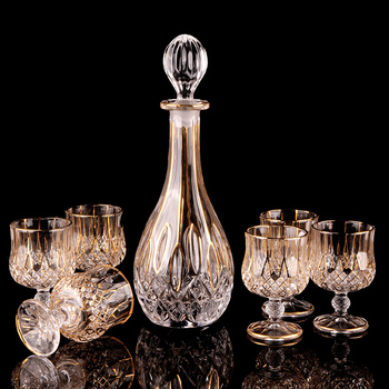 Хрустальное стекло, бокал для вина, бокал для виски, коньяк, бокал для вина, графин, креативный барварер, Бытовая Посуда для напитков, подароч