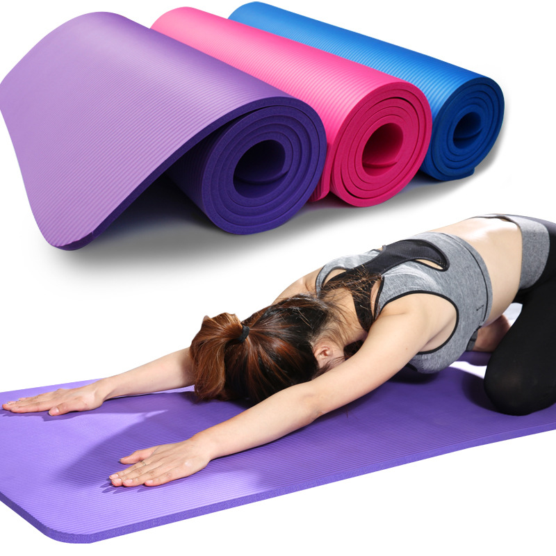 183cm*61cm NBR Yoga Mat Soft Beginner Non- Slip Yoga Mat For Pilates Home Gym Yoga  Fitness Sports Outdoor Pads
