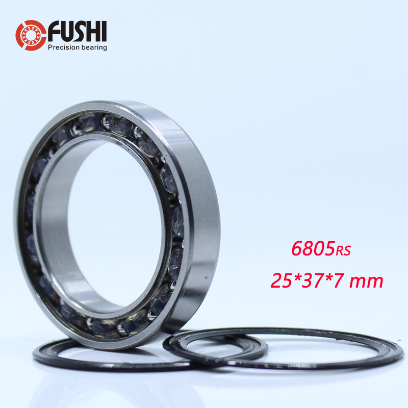 6805-2RS Bearing With PS2 Grease 25*37*7mm ( 1 PC ) 25377 Balls Bicycle Bottom Bracket Repair Parts BB70 6805 2RS Ball Bearings image