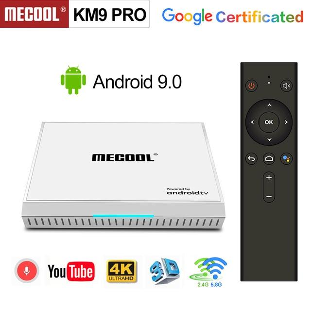 2020 Androidtv 9.0 جوجل معتمد KM9 برو 4GB 32GB أندرويد 9.0 صندوق التلفزيون Amlogic S905X2 دعم يوتيوب 4K المزدوج واي فاي مجموعة صندوق