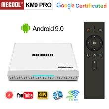 2020 androidtv 9.0 google 認定 KM9 プロ 4 ギガバイト 32 ギガバイトの android 9.0 tv ボックス amlogic S905X2 サポート youtube 4 18k デュアル無線 lan セットトップボックス