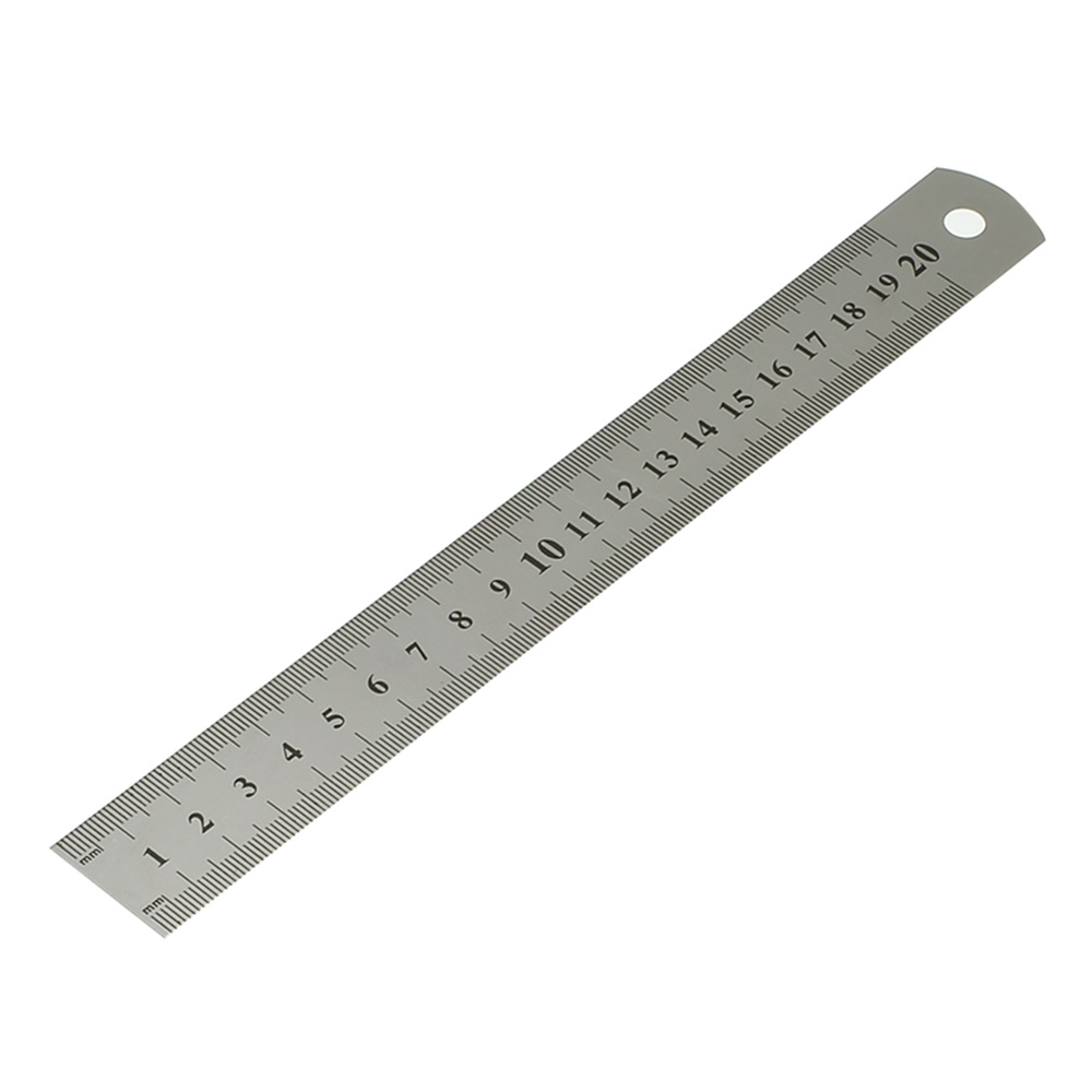 15-30cm Stainless Steel Metal Ruler Ruler Tool Precision Double Measuring Tool