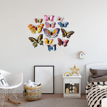 KAKUDER Fridge Magnets 12PCS 3D Butterfly Design Decal Art Stickers Kids Room Magnetic Home Decor DIY Wall Decoration Newest #J(China)