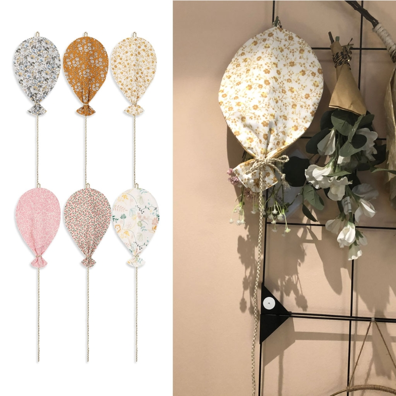 Cute Balloon Wall Hanging Ornaments Cotton Kids Room Decor Nordic Style Hanging Decorations Bedroom Decoration Home Decor