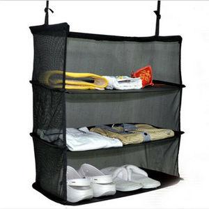 Новая Черная Дорожная сумка для хранения трехслойная подвесная Сумка дорожная полка складная коробка для хранения одежды