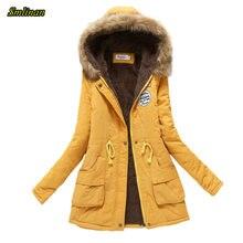 Зимняя куртка smlinan женское меховое пальто с капюшоном женская