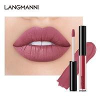 4PCS Lip Gloss Sets Long Lasting Moisturizing Waterproof Non-stick Cup Lip Glaze Lipstick Fashion Matte Lip Gloss Lips Makeup 5