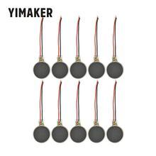 YIMAKER 10 шт. 1234 микро Вибрационный двигатель 12*34 плоские кнопки двигатели для телефона монета массажер Moteur