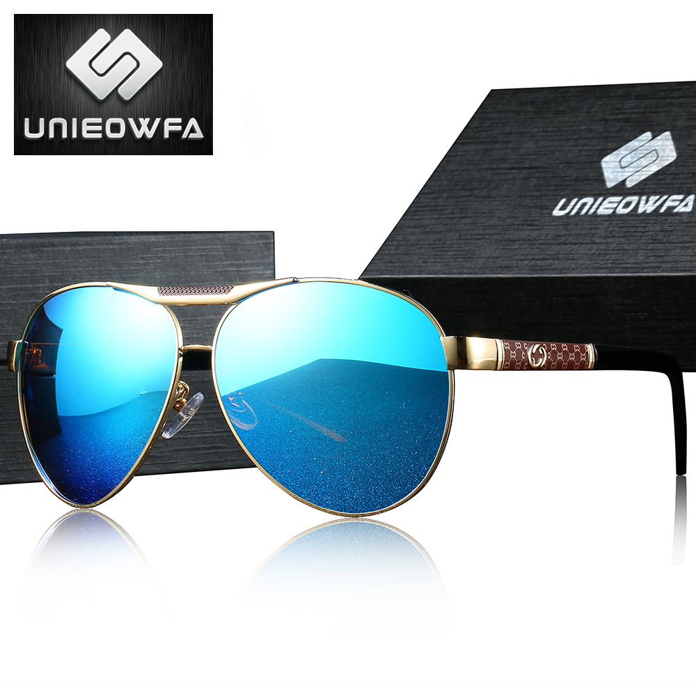 UNIEOWFA Aviation Polarized Prescription Sunglasses Men Women Optical Myopia Prescription Sun Glasses for Men Mirror Brand UV400