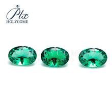 6X8mm wysokiej jakości cena zielony lab utworzono emerald owalne cięcia cena za karatowego diamentu do tworzenia biżuterii cena 2020 najnowszy tanie tanio Osoba trzecia oceny green Grzywny JEWELRY MAKING 1PCS color shape size ANNIVERSARY PARTY