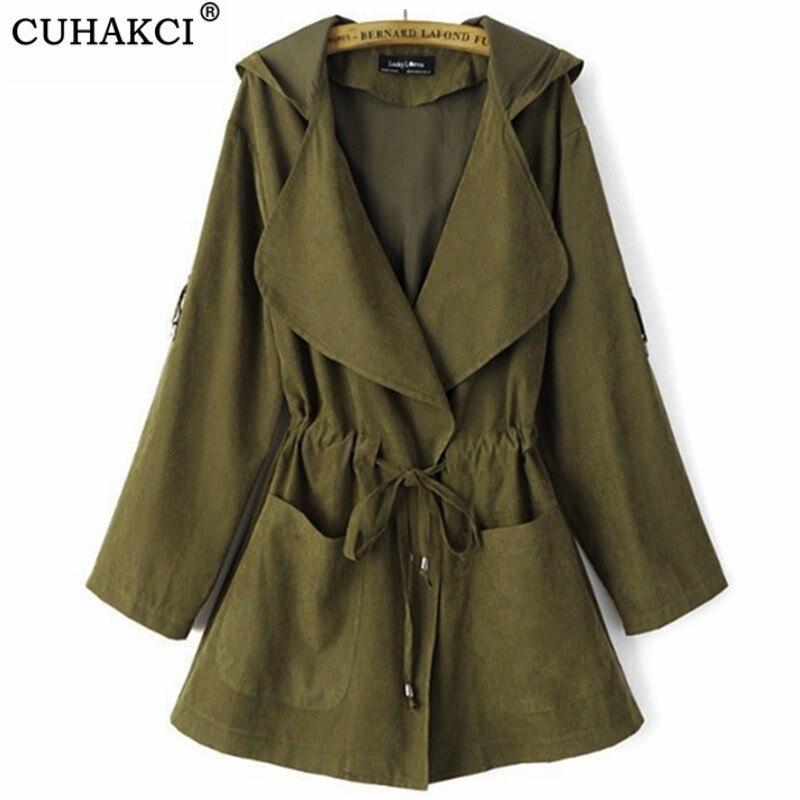 CUHAKCI Bomber   Jacket   Women   Basic   Outwear   Jackets   Autumn   Jacket   Spring Long   Jackets   And Coats Female Coat Casual Army Green Pink
