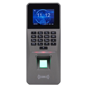 Mool Toegangscontrole Kits Dc 12V 2.4Inch Tft-scherm Vingerafdruk Wachtwoord Kaart Deur Alarm Aanwezigheid Toegangscontrole Rfid lock