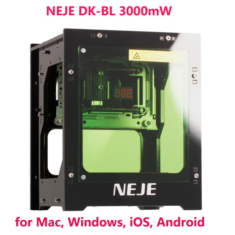 NEJE New DK-BL 3000mW 445nm Laser Engraving Machine Bluetooth Mini Laser Engraver Wood Router For Mac, Windows, IOS, Android