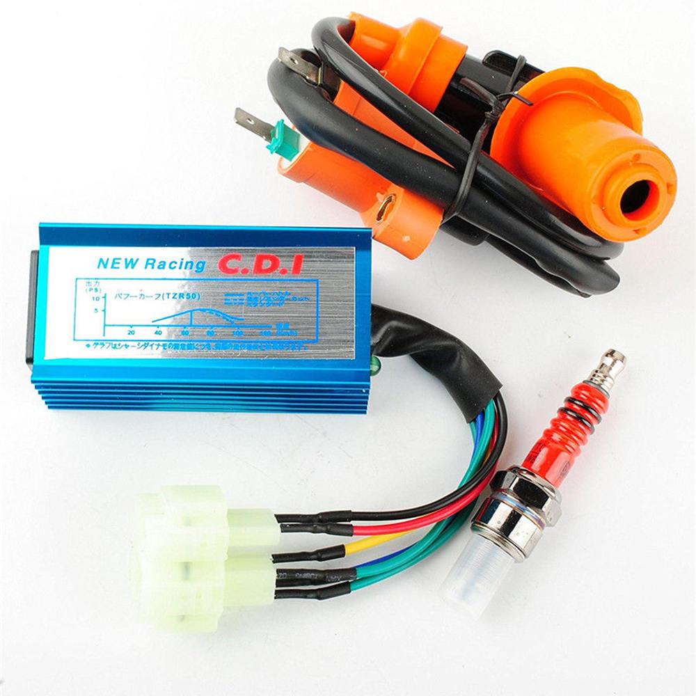 Responsible High Performance Racing Ignition Coil+spark Plug+ac Cdi For Gy6 50cc 125cc 150cc 152qmi 157qmj Engines Spark Plug