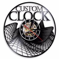 Relógio de parede feito sob encomenda do registro do vinil do vintage