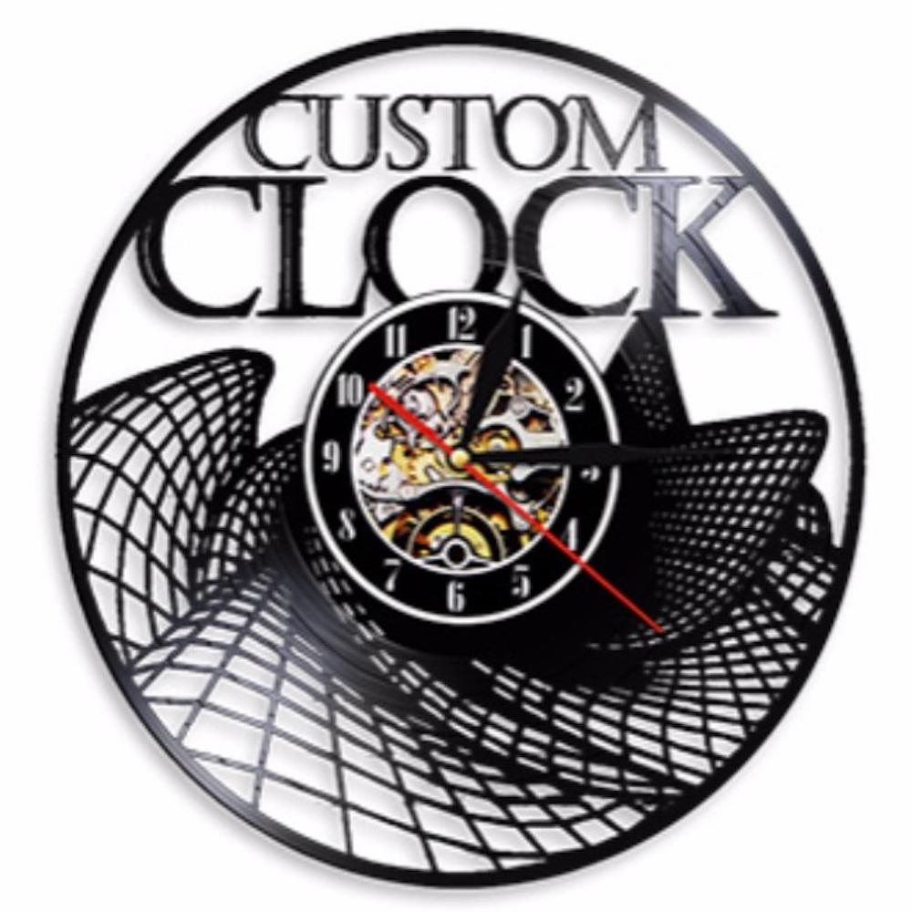 Vintage Custom Vinyl Record Wall Clock Custom Order Your design Your logo Your Personal Personalized Vinyl Clock