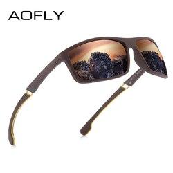 AOFLY DESIGN Fashion Polarized Men Sunglasses Square Frame Driving Sun Glasses Women Fishing Goggle Male zonnebril heren UV400
