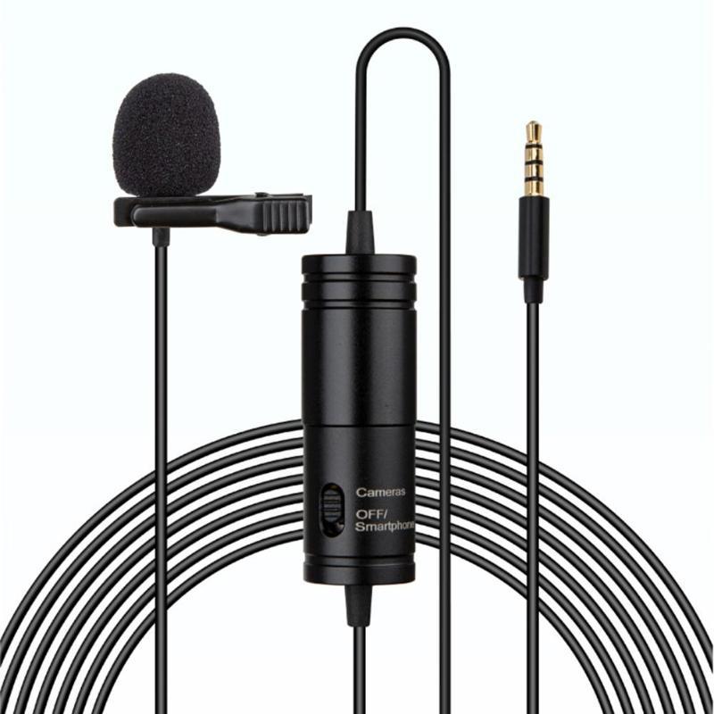 Clip-on Lavalier Mini Audio 3.5mm Collar Condenser Lapel Mic Microphone