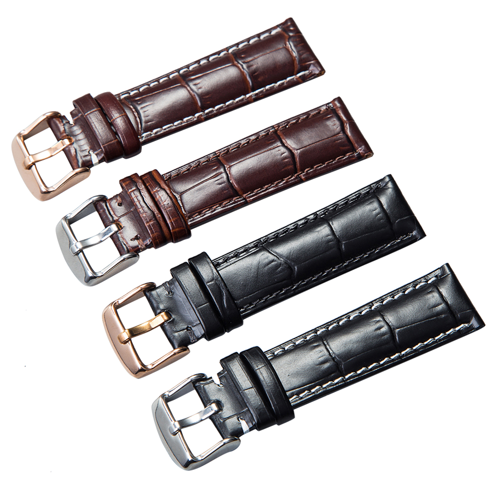 Watchband Soft Calf Genuine Leather Watch Strap 18mm 20mm 22mm 24mm Watch Band Suitable for Tissot Seiko DW Omega Watches