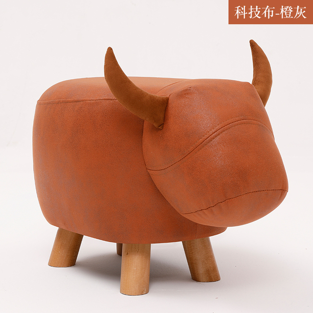 Fashion Creative Calf Animal Shoe Stand, Solid Wood Sofa Stand, Household Foot Stand, Low stool, Small Wood Stand 5
