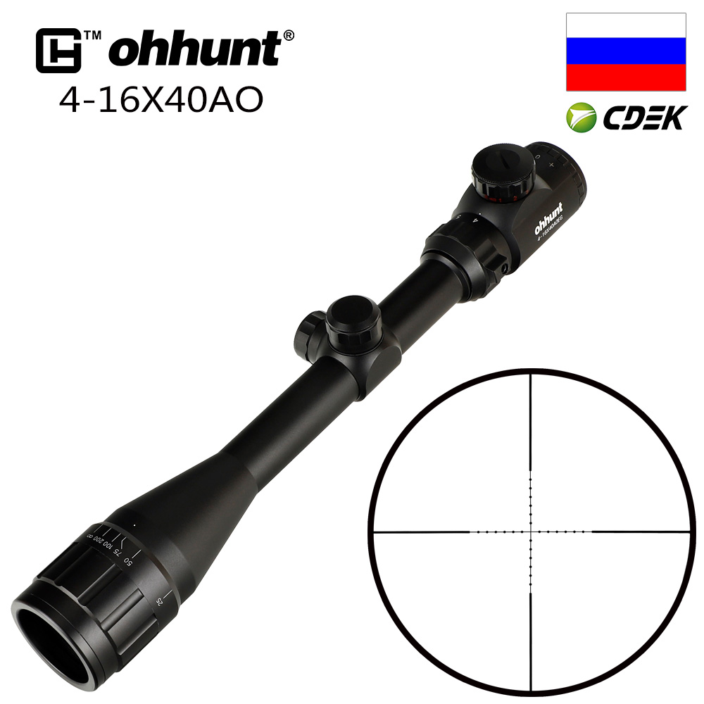 Ohhunt 4X32 3-9X40 4-16X40 6-24X50 Fio Caça Retículo 1 polegada Mira Óptica Rifle Scope Tiro Tático Riflescopes