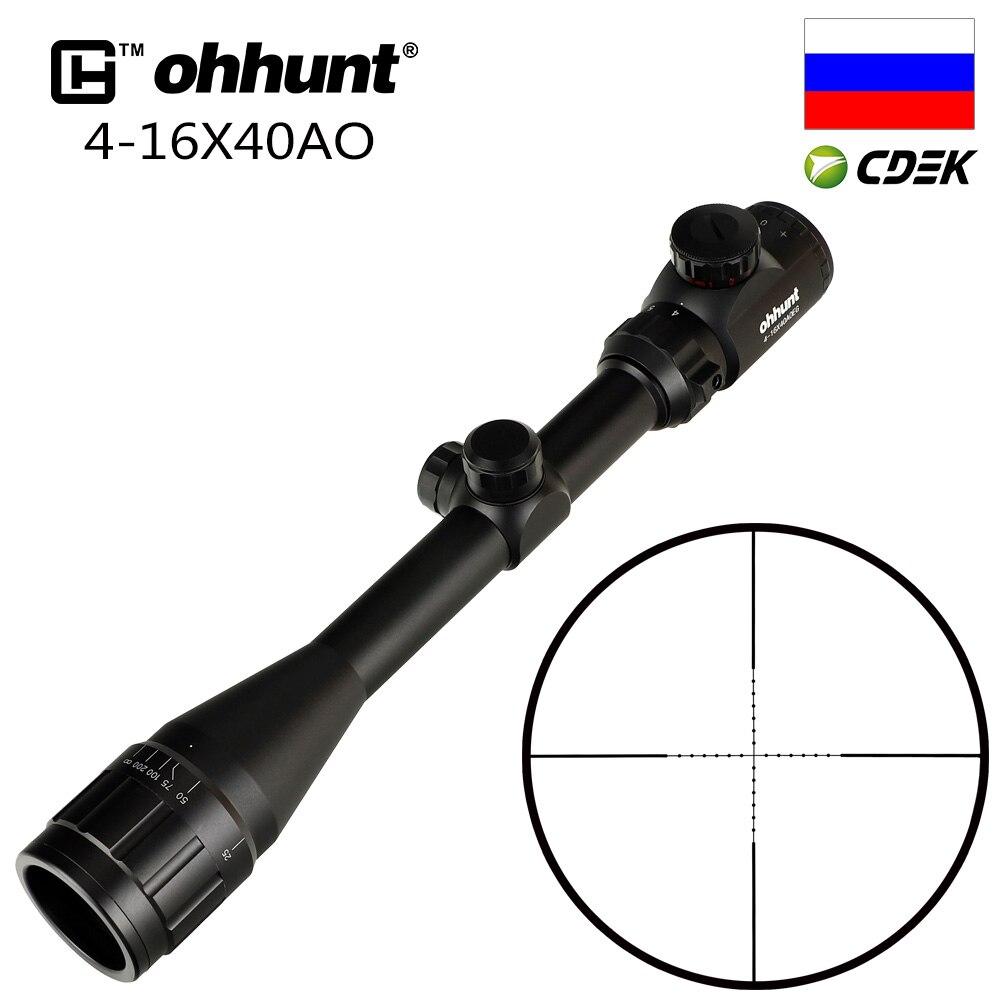 Ohhunt 4X32 3-9X40 4-16X40 6-24X50 tüfek kapsam tel Reticle avcılık 1 inç optik Sight taktik çekim Riflescopes