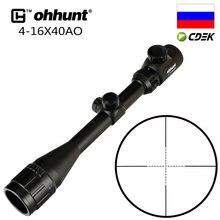 Ohhunt-mira para Rifle, 4X32 3-9X40 4-16X40 6-24X50, retícula de alambre, caza, de 1 pulgada visión óptica, visores de Tiro Táctico