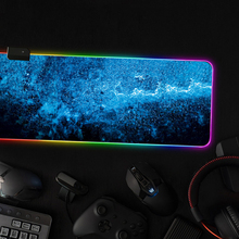 Large Size Gaming Mouse Pad RGB LED Light Big Mouse Mat Office Computer Keyboard Starry Mousepad Rubber Anti-slip Mouse Mat