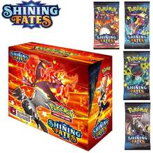 2021 nowy 360 sztuk Pokemon TCG: Shining Fates Booster Box handlowa gra karciana kolekcja Pokemons zabawki