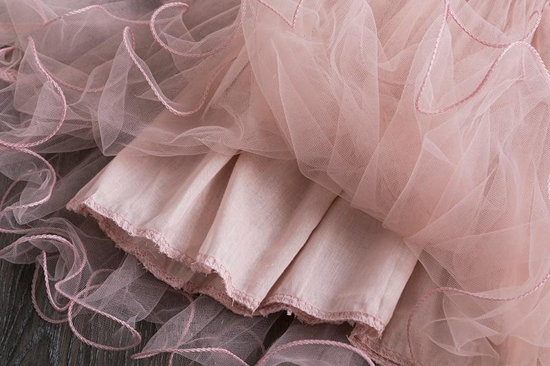 Princess New Year Dress For Girls Children's Birthday Party Costume Children Tulle Fabrics Elegant Wedding Gown For 3 4 5 6 7 8T 6