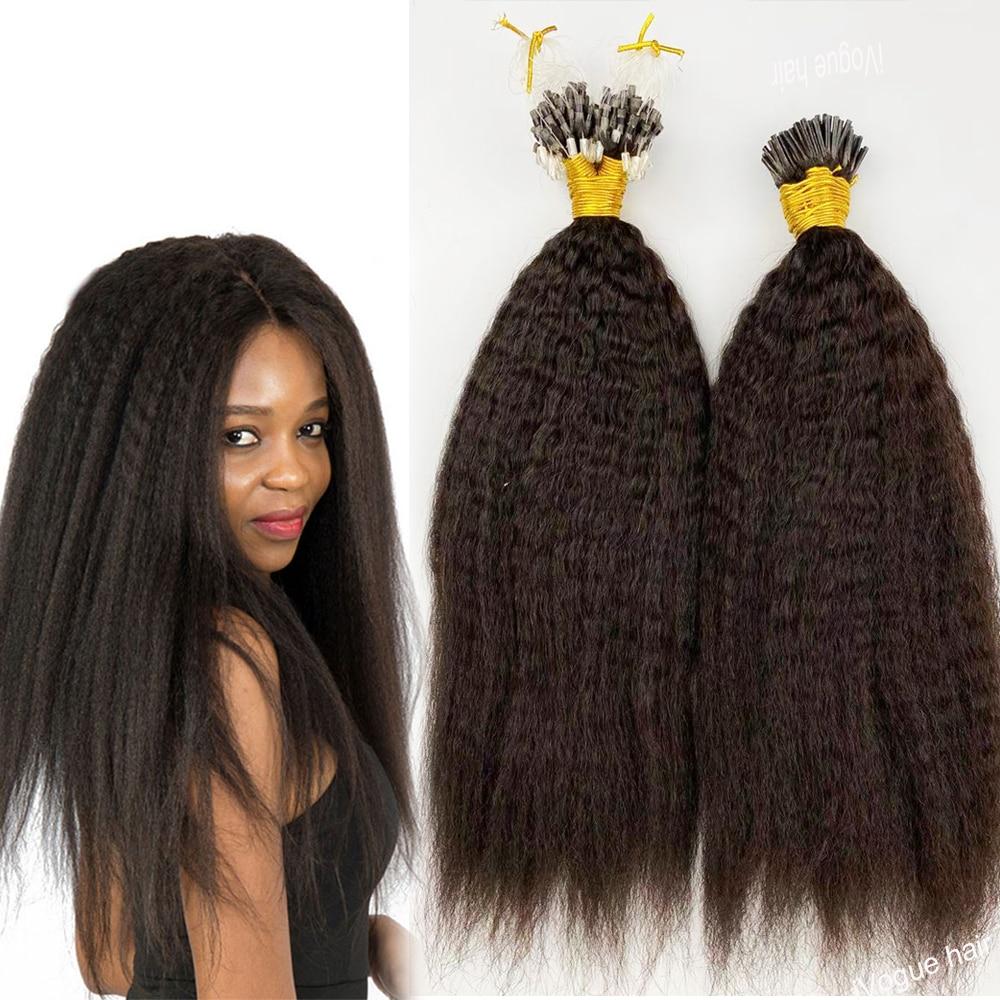 Micro Loop Hair Extensions Kinky Straight I Tip Beads Hair 8