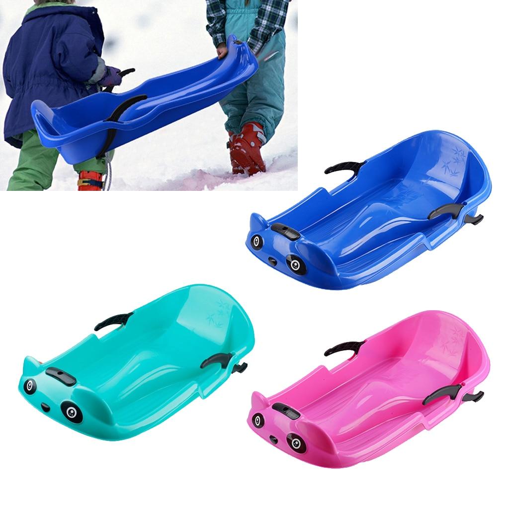 Прочные снежные сани Песок Трава для лыжных горок сани Toboggan с тяговой веревкой для детей