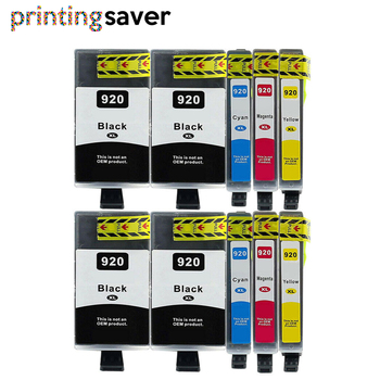10Pcs Compatible replacement ink cartridge For hp 920XL 920 for hp920 Officejet 6000 6500 Wireless 6500A 7000 7500 7500A Printer картридж для принтера hp 920xl cd973ae officejet ink cartridge magenta